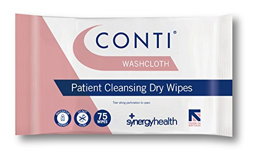 Conti Washcloth Large Patient Cleansing Wipes Overall Body (16 Packs of 75) from Synergy