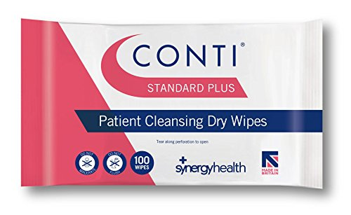 Synergy Conti Standard Plus Large Patient Cleansing Wipes (1 Pack of 100) from Synergy