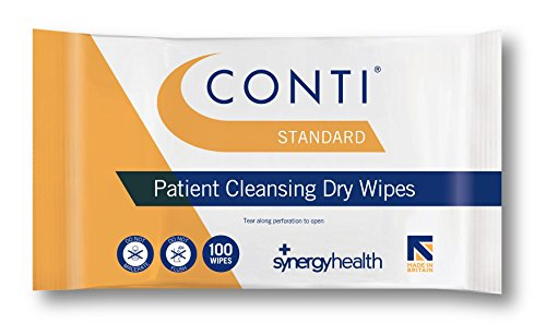 Synergy Conti Standard Regular Patient Cleansing Wipes (2 Packs of 100) from Synergy