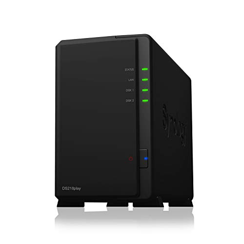 Synology DS218play 2 Bay Desktop NAS Enclosure from Synology