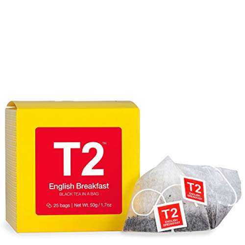 T2 Tea English Breakfast Teabags, Black, 25-Count from T2 Tea