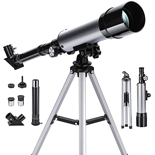 Astronomical Telescope Zoom 90X HD Outdoor Monocular Space Telescope with Tripod 360/50mm Spotting Scope for Kids Beginners - Uverbon from Uverbon