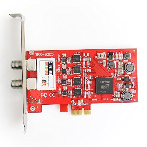 TBS 6205 QUAD FREEVIEW DVB-T2/T/C Terrestrial / Cable Quad TV Tuner PCIe Card (Replacement for TBS 6285) from TBS