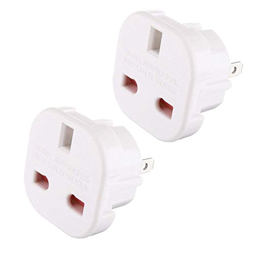 2 X UK to US Travel Adaptor suitable for USA, Canada, Mexico, Thailand - Refer to Description for country list from TEC UK