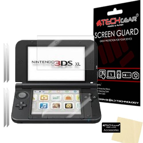 TECHGEAR [2 Pack] Screen Protectors for Nintendo 3DS XL Top & Bottom - Clear Screen Protectors Compatible with NINTENDO 3DS XL - ALSO for New 3DS XL 2014 from TECHGEAR