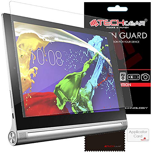 "TECHGEAR [Pack of 3] Screen Protectors for Lenovo Yoga Tablet 2 10"" (Yoga 2 10.1 inch Tablet) - Ultra Clear Lcd Screen Protector Guard Covers With Screen Cleaning Cloth & Application Card from TECHGEAR"