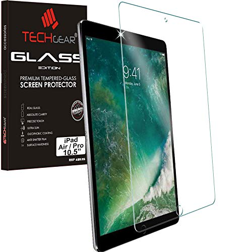 "TECHGEAR GLASS Edition for iPad Air 3 2019 / iPad Pro 10.5"" - Genuine Tempered Glass Screen Protector Guard Cover Compatible with Apple iPad Air 2019 & iPad Pro 10.5 inch … from TECHGEAR"