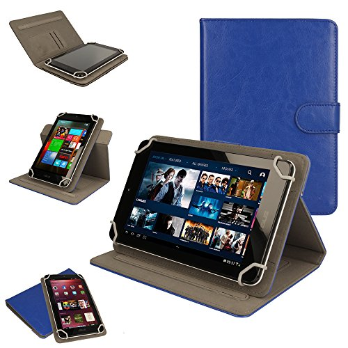 TECHGEAR [Cosmic (8) Universal Case to Hold Amazon Fire HD 8 (HD8) Tablet - 360 Degree Rotating & Detachable Holder Case with Viewing stand (Blue) - [5th Generation - 2015 Release] from TECHGEAR