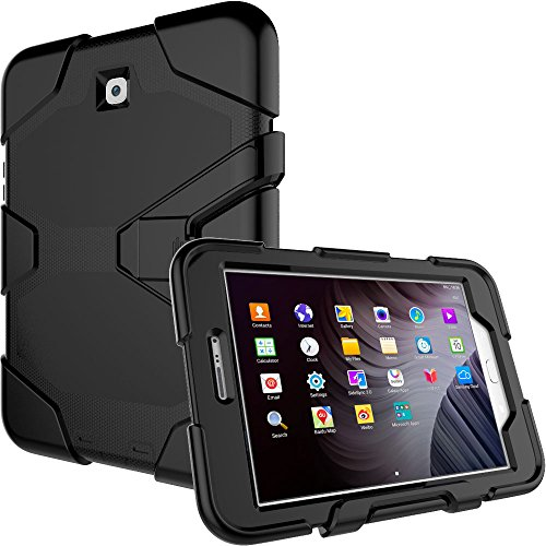 "TECHGEAR G-SHOCK Case fits Samsung Galaxy Tab S2 8.0"" (SM-T710 Series) - Tough Rugged Heavy Duty Armour Shock Proof Survival Protective Case with Detachable Stand - Kids Work School Builders Case from TECHGEAR"