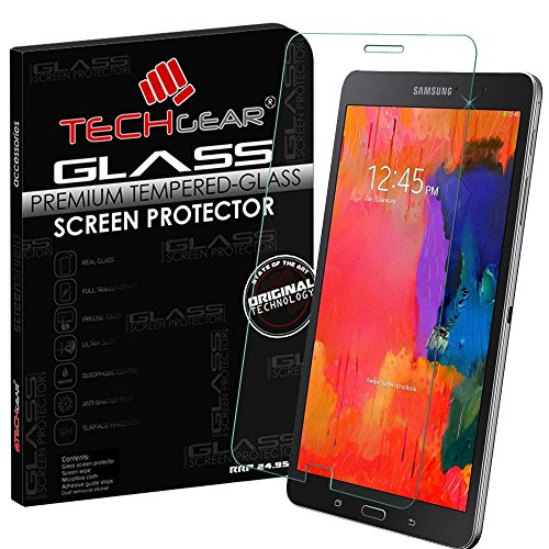 TECHGEAR Screen Protector for Galaxy Tab Pro 8.4 Inch (SM-T320 / SM-T321 / SM-T325) - GLASS Edition Genuine Tempered Glass Screen Protector Guard Cover from TECHGEAR