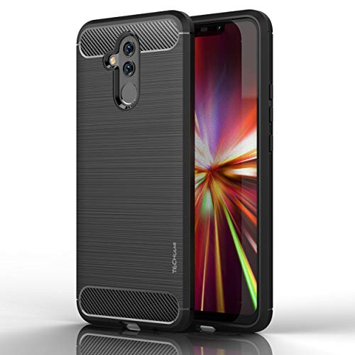 TECHGEAR Mate 20 Lite Case - [Stealth Case] Flexible Shockproof TPU Slim Fit Case Cover - Carbon Fibre Design Soft Flexible Protective Shell Guard Compatible with Huawei Mate 20 Lite from TECHGEAR