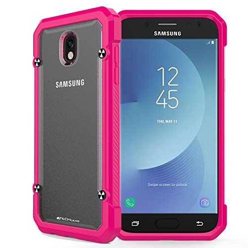 TECHGEAR Galaxy J5 2017 Case - [Fusion Armour] Premium Slim Hybrid Tough Rugged Protective Bumper Case Heavy Duty Protection Cover Compatible with Samsung Galaxy J5 2017 (SM-J530 Series) Pink from TECHGEAR