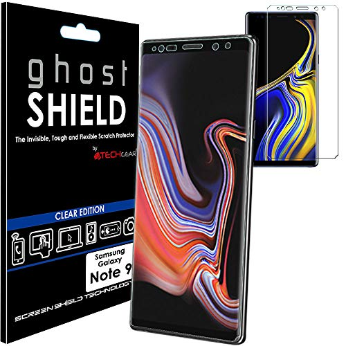 TECHGEAR Screen Protector to fit Samsung Galaxy Note 9 [ghostSHIELD Edition] Genuine Reinforced Flexible TPU Screen Protector Guard Covers with Full Screen Coverage inc Curved Screen from TECHGEAR