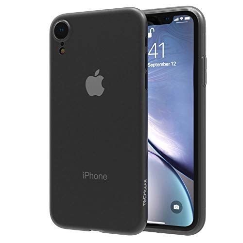 "TECHGEAR iPhone XR Case - [Ghost Case] Super Slim & Lightweight BARELY THERE Protective Shell Case Cover Compatible with Apple iPhone XR 6.1"" - Black Smoke from TECHGEAR"