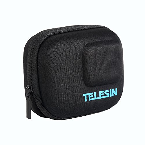 TELESIN Portable Mini Camera Bag Protective Frame Case Semi-rigid Shell Carrying Pocket Bag for GoPro Hero 5 6 7 Black, Hero 2018 Camera Accessories (Camara Bag Only) from TELESIN