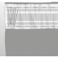 Pinch Pleat Pleat Curtain Tape Pack White from Mactapes