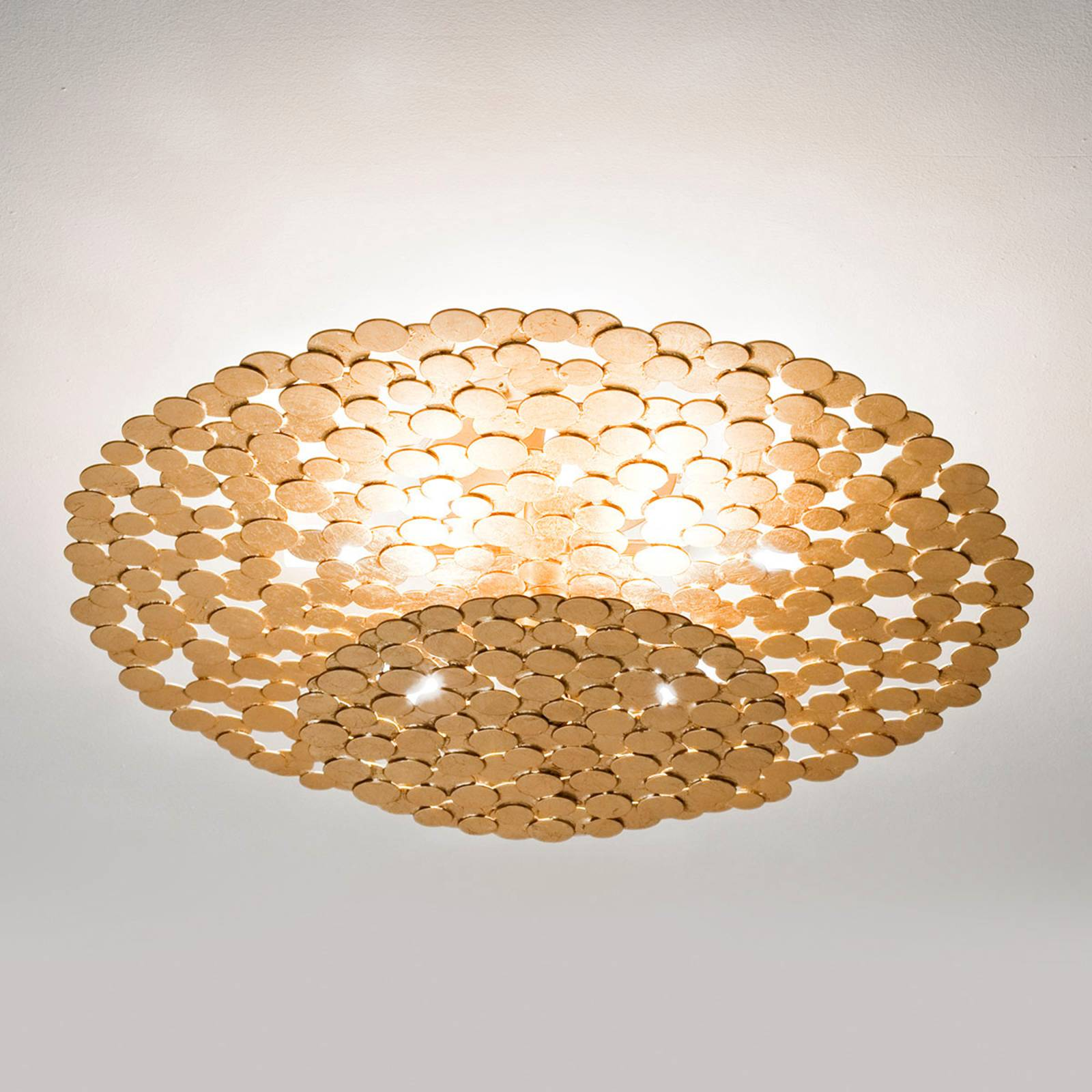 Attractive Tresor ceiling light 60 cm, gold from Terzani