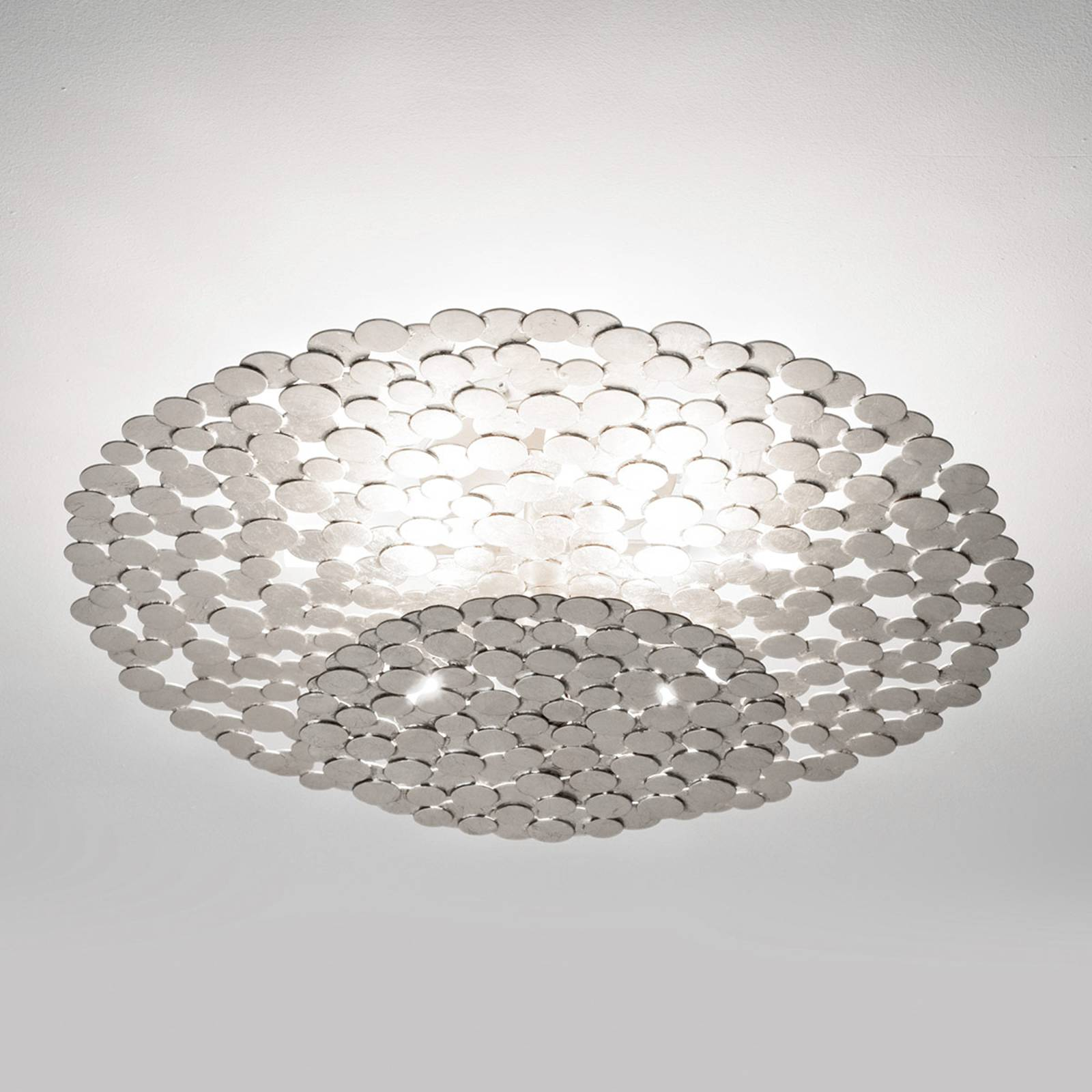 Fascinating Tresor ceiling light 60 cm, silver from Terzani