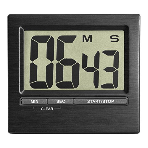 TFA Dostmann 38.2013.01 Electronic Timer and Stopwatch with Large Display Front Black Aluminium from TFA