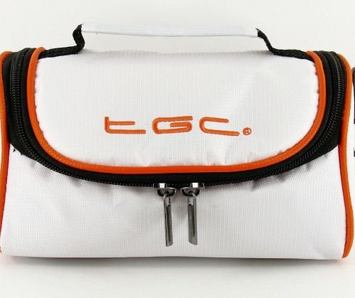 New TGC Cool White & Hot Orange Shoulder Carry Case Bag for BenQ GH600 Camera from TGC ®
