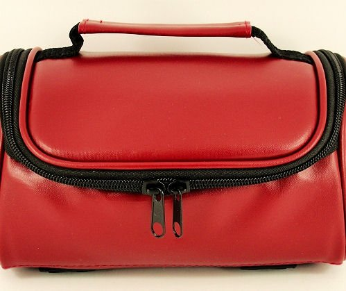 New TGC Red Faux Leather Shoulder Camera Case for Vivitar SLR DVR 690HD - Bridge Cameras & Camcorders from TGC ®