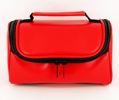TGC ® Camera Case for HP PhotoSmart 320 with Carry Handle (Red Faux Leather) from TGC ®