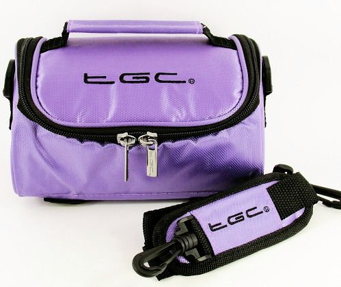 TGC ® Camera Case for Kodak EASYSHARE CX4310 with shoulder strap and Carry Handle (Electric Purple) from TGC ®