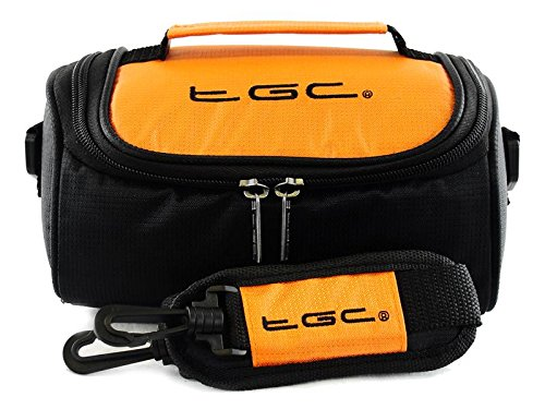 TGC ® Camera Case for Kodak EASYSHARE DX4900 with shoulder strap and Carry Handle (Hot Orange & Black) from TGC ®