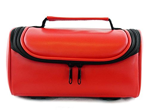 TGC ® Camera Case for Nikon Coolpix P520 with shoulder strap and Carry Handle (Red Faux Leather) from TGC ®