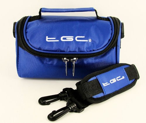 TGC ® Camera Case for Sony CyberShot DSC-H10/S with shoulder strap and Carry Handle (Dreamy Blue) from TGC ®