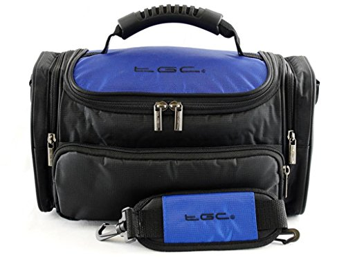 TGC ® Large Camera Case for Sony Alpha 7 II Plus Accessories (Dreamy Blue & Black) from TGC ®