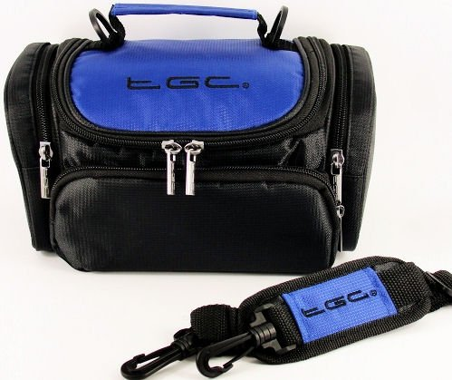 TGC ® Large Camera Case for Sony DSLR, A700K, A700P, A350K, A350X, A200K Plus Accessories (Dreamy Blue & Black) from TGC ®
