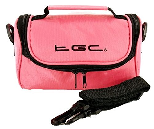 TGC Sat Nav GPS Case/Bag for Gamin nüvi 50 with shoulder strap and Carry Handle (Pink) from TGC ®
