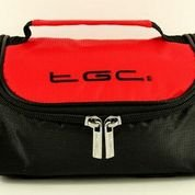 TGC ® Sat Nav GPS Case/Bag for Magellan RV5365T-LMB with shoulder strap and Carry Handle (Red & Black) from TGC ®