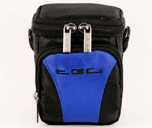 TGC Blue & Black Camera Case for Compact DXG DCS 5D2 DCS 5D5 DCX 018 DVH 513 DVH 5B3 DVH 5C9 DVH 5C6 DVH 5C3 DVH 5D9 DVV 5E0 DVH 5F0 Cameras with Belt Loop + Foam Padding from TGC ®