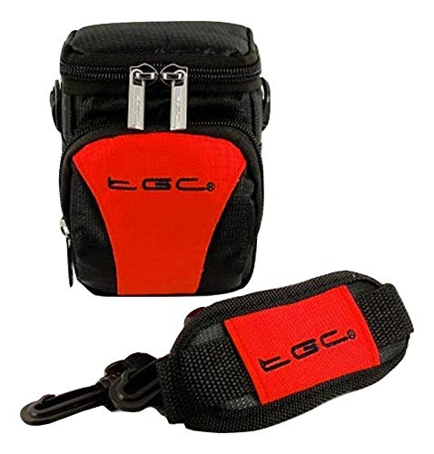 The TGC ® Anti-Shock Camera Case for Canon PowerShot SX260 HS (Black & Crimson Red) from TGC