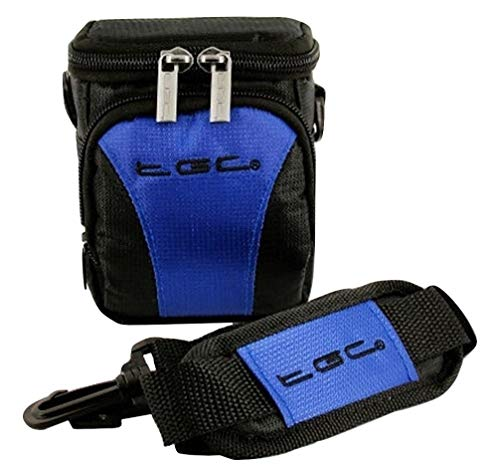 The TGC ® Anti-Shock Camera Case for Nikon Coolpix L25 (Black & Dreamy Blue) from TGC ®