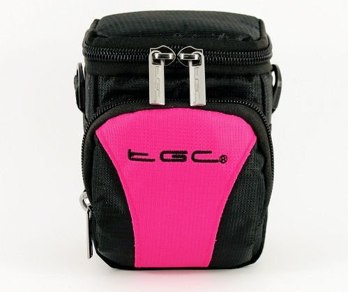 The TGC ® Hot Pink & Black Deluxe Compact Shoulder Carry Case Bag for the FujiFilm FUJIFILM X10 Camera from TGC ®