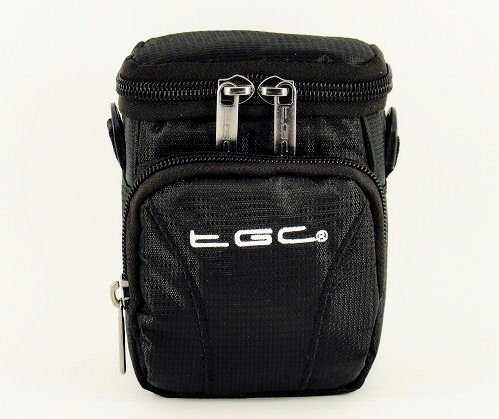 The TGC ® Jet Black Deluxe Compact Shoulder Carry Case Bag for the Olympus XZ-10 Camera from TGC ®