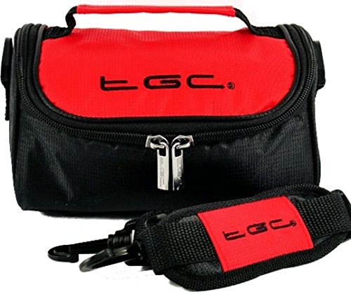 The TGC ® Anti-Shock Camera Case for Casio EX-Z700 (Crimson Red & Black) from TGC