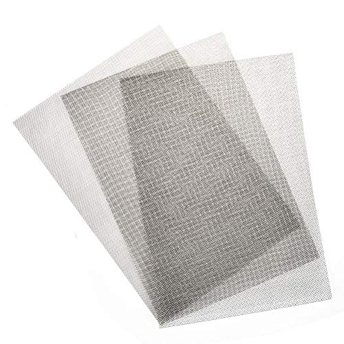 TIMESETL 3pcs Stainless Steel Woven Wire Mesh Rodent Proof Metal Mesh Sheet 1mm Hole Great For Airbricks - A4 (210 x 300mm)-TXJ-EU from TIMESETL