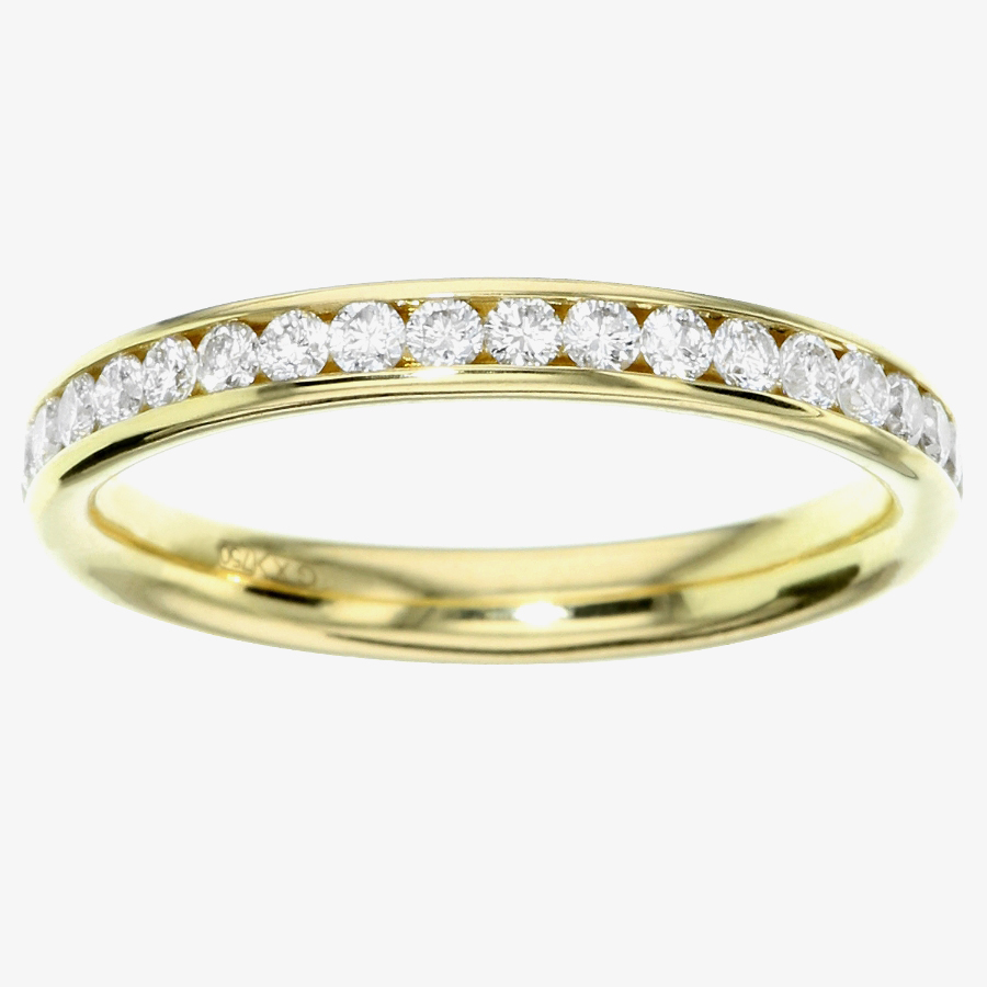 18ct Gold Channel Set Diamond 0.75ct Half Eternity Ring FET2724 from Gold Impression