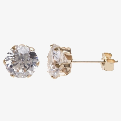 9ct 5mm Round Six Claw CZ Studs SE305 from Gold Impression