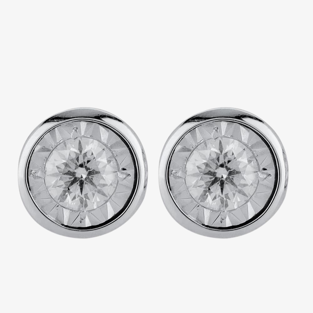 9ct White Gold 0.16ct Diamond Stud Earrings E5264D-9W-016G-A from Gold Impression