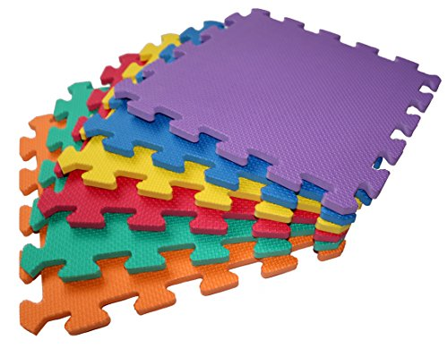 TLCmat Soft Foam Play Mat - SGS, TUV, Reach Safety Tested (6pcs, 12pcs or 18pcs Pack) (12pcs Pack) from TLCmat