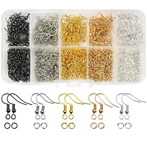 TOAOB 1150pcs Mixed Colors Earring Hooks and Open Jump Rings with Box for Earring Making from TOAOB THE ONE AND ONLY BABY