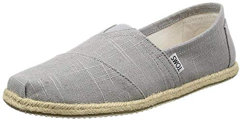 Toms Grey Linen Rope Sole Men's Classics 7 from TOMS
