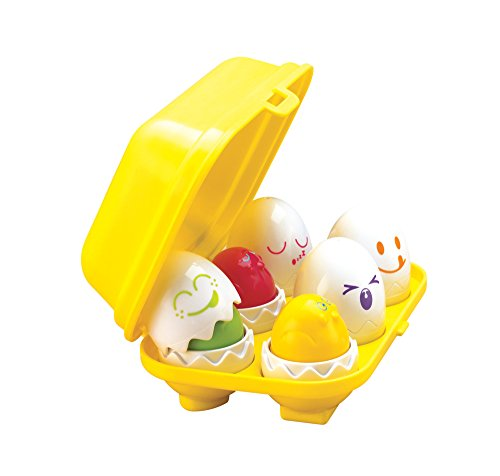 TOMY Toomies Hide and Squeak Eggs, Educational Shape Sorter Baby, Toddler & Kids Toy, Suitable For 6 Months & 1, 2 & 3 Year Old Boys & Girls from TOMY