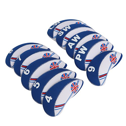 TOURBON Golf Club Iron Covers Headcover For Titleist, Callaway, Ping - Set of 10 (UK) from TOURBON