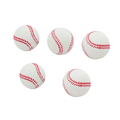 TOYMYTOY Soft Baseball Rubber Practice Bounce Ball for Beginner Sports Training Exercise 2.5Inches 5PCS from TOYMYTOY